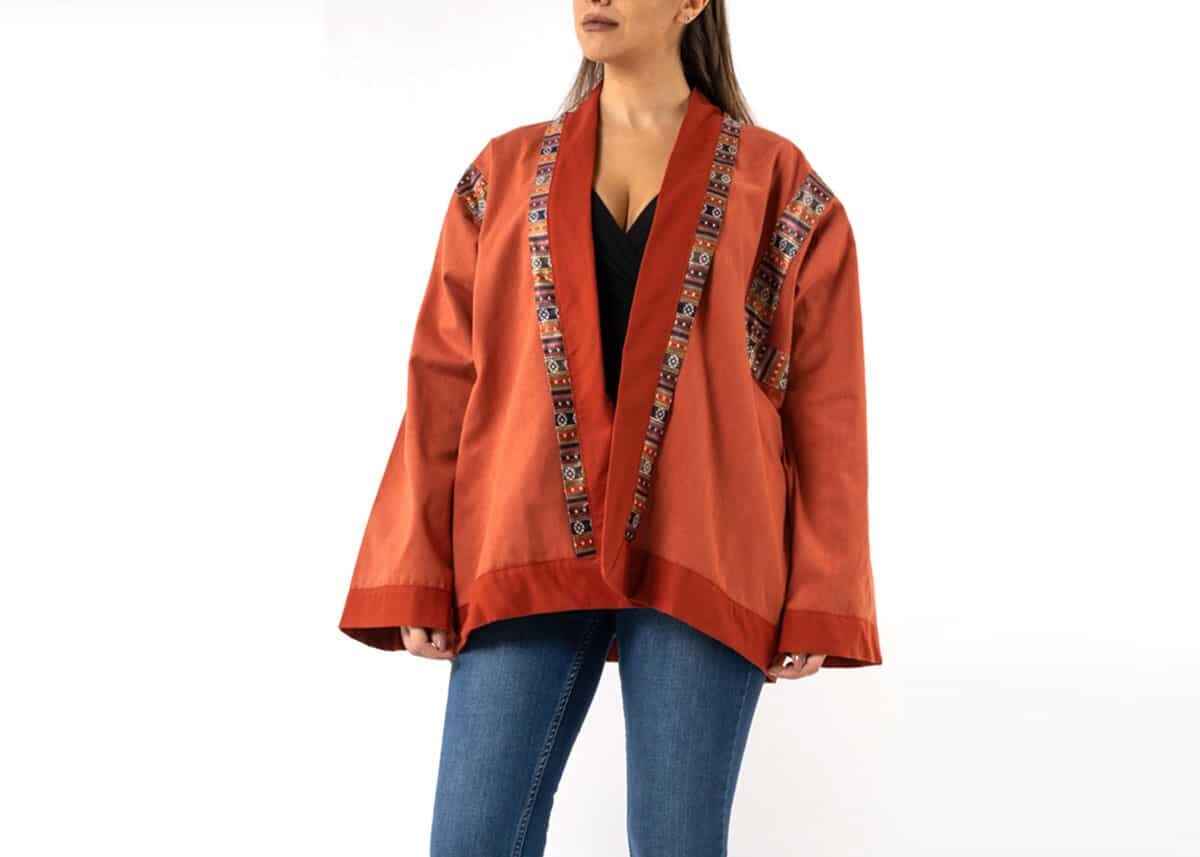 Cotton-Jacket-in-Sayeh-with-Angular-Sleeves
