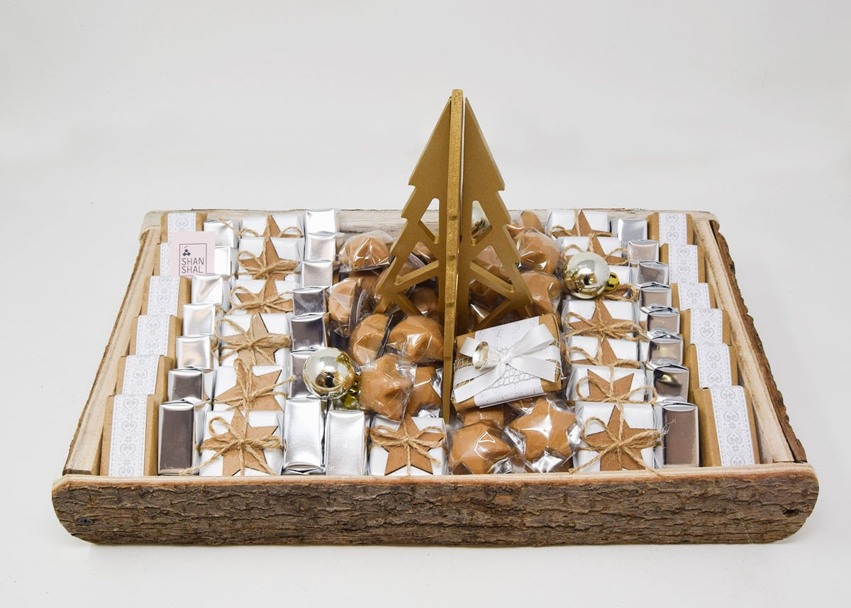Wooden Christmas Chocolate Tray