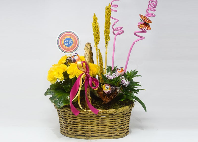 Nature's Wishes for Mom Flower Basket