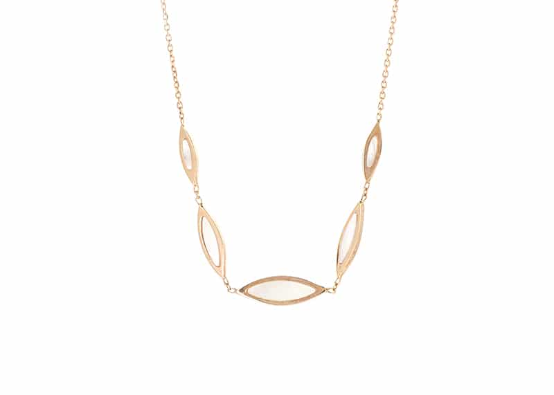 Mother of Pearl Marquise Line Necklace