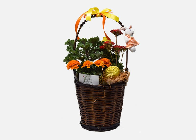 Medium Easter Flower Basket