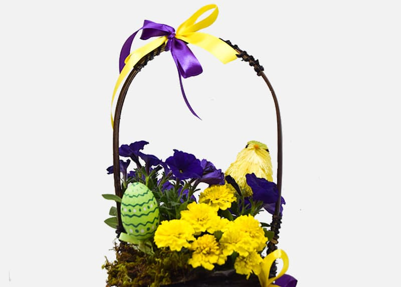 Easter Compliments Flower Basket