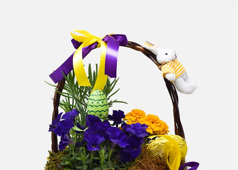 Pleasant Easter Flower Basket