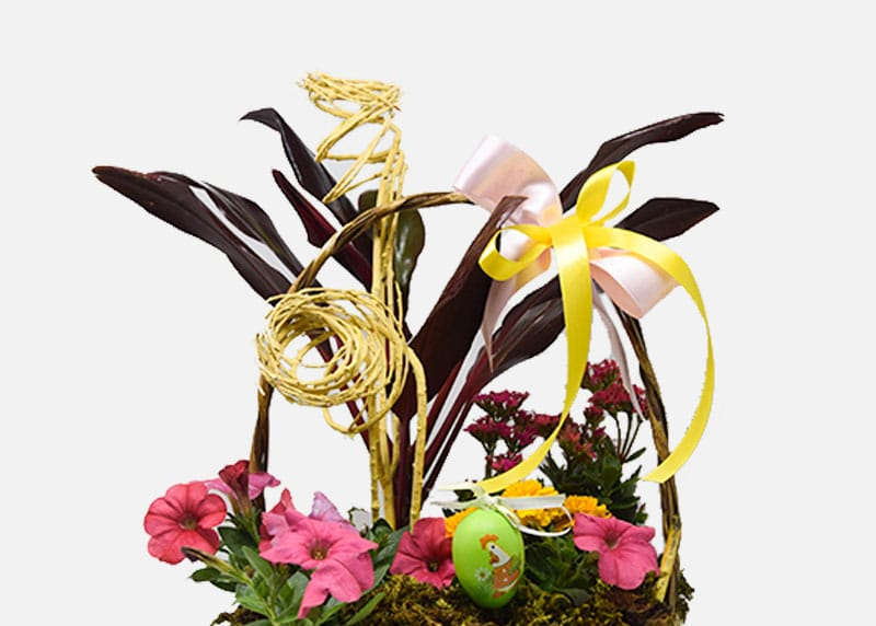 Vibrant Easter Flower Basket