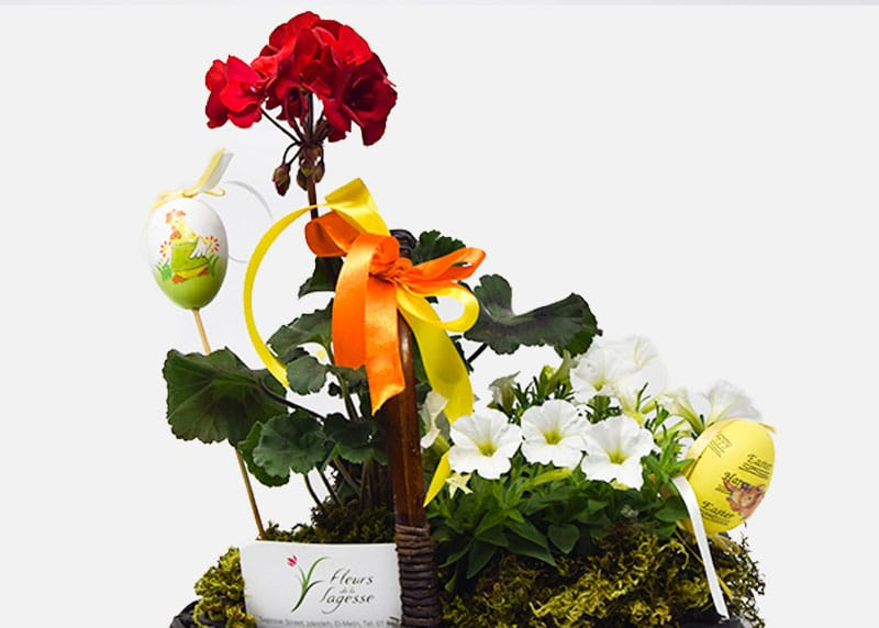 Festive Easter Flower Basket