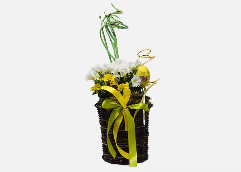 Yellow Easter Flower Basket