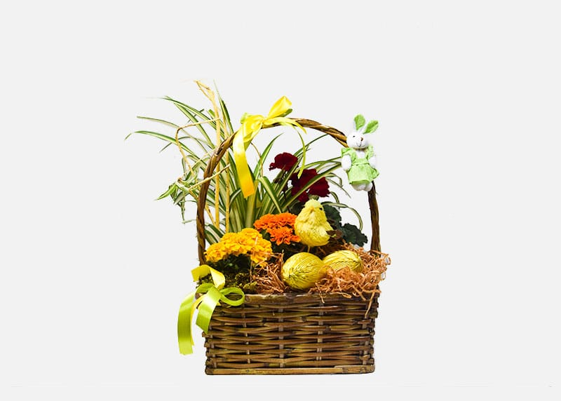 Bright Easter Flower Basket